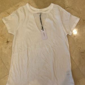 NWT Z Supply White Shirt with Cut Out